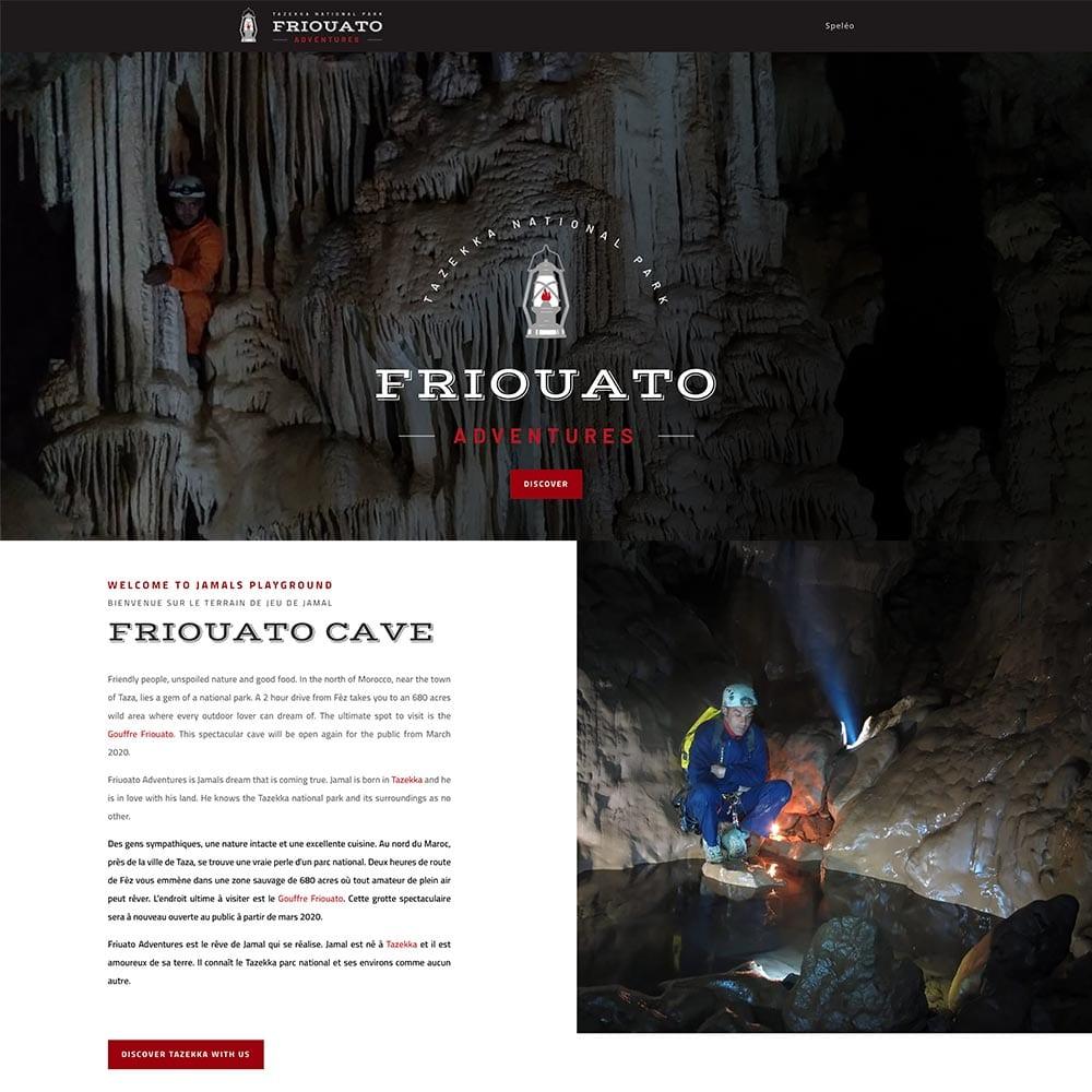 Friouato adventures branding en website