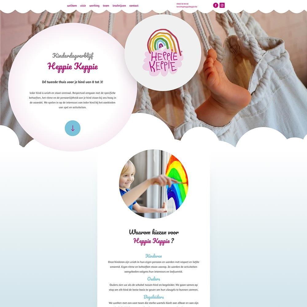 Nieuwe website voor kinderdagverblijf Heppie Keppie