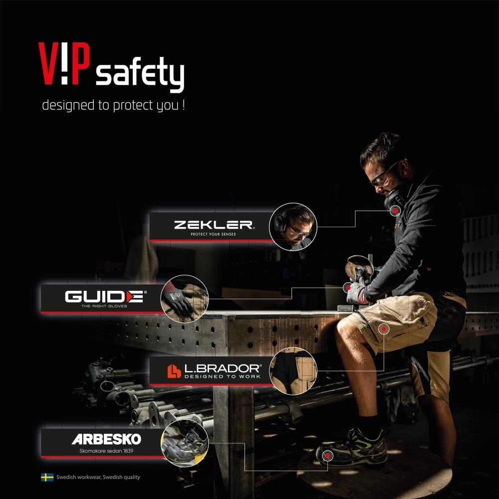 VIP safety grafisch ontwerp van visual